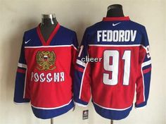 NHL Washington Capitals #91 fedorov red Russian version Jersey