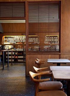 Café Valand opened in 1954 by Magdalena Åström, Stockholm Cafe Bar, Cafe Restaurant, Restaurant Design, Modern Restaurant, Coffee Shop Design, Cafe Design, Design Design, Commercial Design, Commercial Interiors