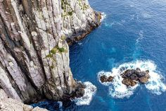 The thrilling view from the lookout at Cape Hauy