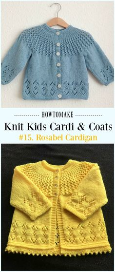 Rosabel Cardigan Free Knitting Pattern - #Knit Kids #Cardigan Sweater Free Patterns