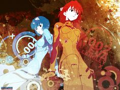 Evangelion - Rei & Asuka