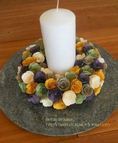 Bigz Spiralblume, Dekoration, Kerzenkranz, Blumenkranz