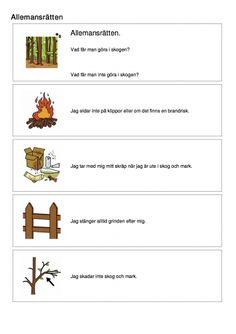 Allemansrätten Recycling, Teaching, Education, Kids, Children, Outdoor, Scouting, Experiment, Geo