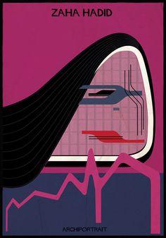 Zaha Hadid Archiportrait by Federico Babina