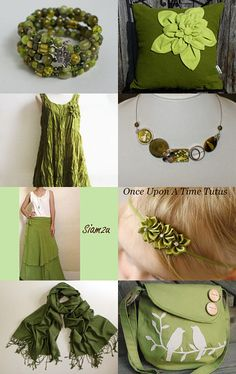 OLIVE GREEN TREASURY by BIJOUX LIBELLULE on Etsy--Pinned with TreasuryPin.com