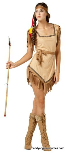 Naughty Galilahi Adult Indian Costume - Candy Apple Costumes - Peter Pan and Tinker Bell Costumes