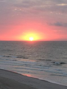 Sunrise over the ocean at Myrtle Beach, South Carolina.