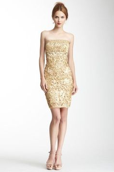 To have a place to wear this gold dress... !