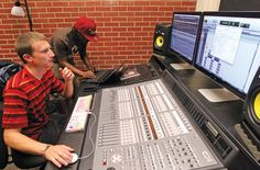 Commercial Music Technology students use Pro Tools software, the industry standard for recording, to edit and mix music and sound.  Students in the CMT program at Cal U can now be certified in this important technology.