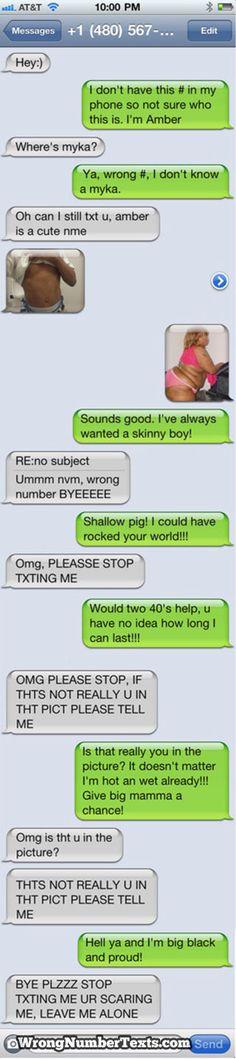 Love random text from strangers