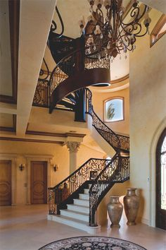 luxurious and splendid elegant stairs design. Custom spiral staircase  Traditional Staircase las vegas by Macaluso Designs Inc Spiral National Museum Paris staircases