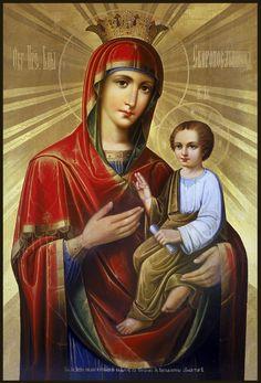 Икона Божией Матери Скоропослушница. Этот древний чудотворный образ находится в афонском монастыре Дохиар.