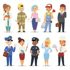 People professions vector. Human Icons. $5.00
