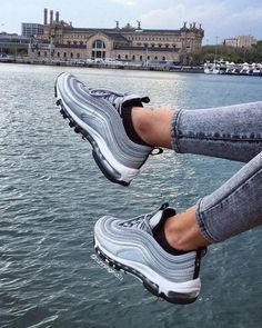 Air max 97 outfit, cool nike shoes, cute shoes, me too shoes, Sneakers Shoes, Gold Sneakers, Sneakers Fashion, Fashion Shoes, Shoes Men, Women's Shoes, Yeezy Shoes, Gray Sneakers Outfit, Adidas Shoes