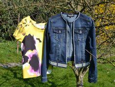 NIOI post it blouse and NOA.N denim swarowski
