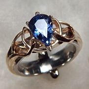 I don't think I've ever really been thrilled that sapphire was my birthstone until I saw this ring!