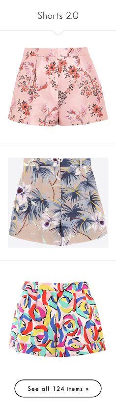 """Shorts 2.0"" by jaekoreoz ❤ liked on Polyvore featuring shorts, bottoms, stella mccartney, multi colored shorts, tailored shorts, colorful shorts, flower print shorts, floral printed shorts, multicoloured and hawaiian print shorts"