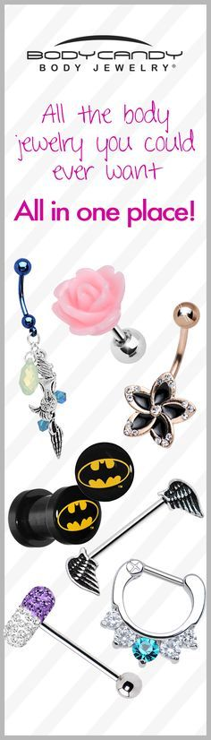 If you're looking for body jewelry look no further! BodyCandy is the Home of the World's Largest Body Jewelry Store. We have Body Jewelry for Every Piercing www.BodyCandy.com