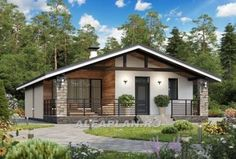Exterior home remodel 52 Ideas Dream House Plans, Modern House Plans, Small House Plans, Modern House Design, Modern Bungalow Exterior, Modern Bungalow House, Tiny House Cabin, My House, Bungalow Haus Design