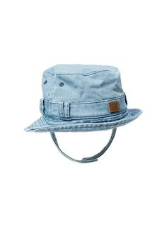 93c2c1e0418 Accessories Boys Double Denim Bucket Hat WashedBack Denim hat Patch Shop