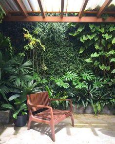 Backyard Patio Designs, Small Backyard Landscaping, Tropical Landscaping, Garden Wall Designs, Landscaping Ideas, Tropical Garden Design, Vertical Garden Design, Tropical Gardens, Jardin Decor