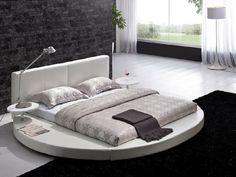 dormitorio moderno con cama redonda