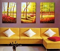 Amazon.com: Modern Abstract Art Oil Painting STRETCHED READY TO HANG OPA201: Home & Kitchen