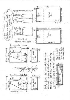 ideas for sewing blouse tutorial costura T Shirt Sewing Pattern, Dress Sewing Patterns, Vintage Sewing Patterns, Clothing Patterns, Pattern Drafting Tutorials, Sewing Pockets, Sewing Blouses, E 38, Creation Couture