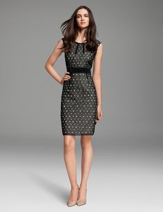 This Banded Eyelet Dress from THE LIMITED is très chic. Find it at PTC! http://www.peninsulatowncenter.com/Tenants/TheLimited.aspx