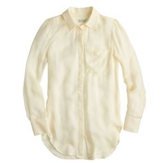NWT J crew  women    Classic silk blouse item B2607  4 $59 warm ivory #JCrew #Blouse