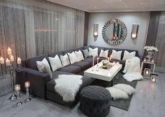 Living Room Decor Cozy, Living Room Mirrors, Shabby Chic Living Room, Living Room Grey, Small Living Rooms, Home Living Room, Apartment Living, Living Room Designs, Bedroom Decor