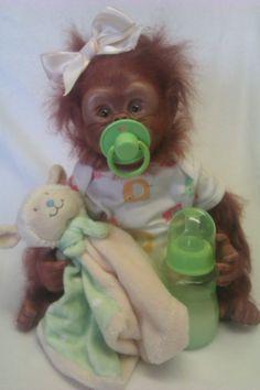 OOAK Reborn monkey/orangutan