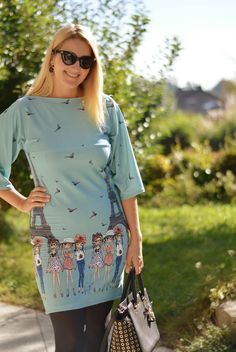 DIY Kleid mit Parismotiv