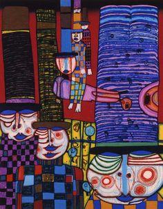Friedensreich Regentag Dunkelbunt Hundertwasser (December 1928 — February was an Austrian-born New Zealand artist and architect who worked also in the field of environmental protection… Gustav Klimt, Modern History, Art History, Pablo Picasso, Friedensreich Hundertwasser, Paul Klee, Art Plastique, Art And Architecture, Artist At Work