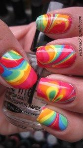 how to tie dye nails