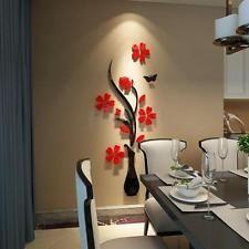 3D Miroir Fleur Sticker Mural Decal Art Decor Maison Chambre Vinyle Autocollant
