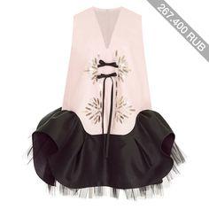 DELPOZO Triple Silk Organza Bi-Color Dress