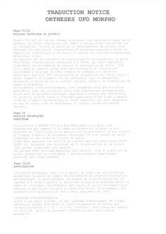 Traducteur Notice orthèses UFO MORPHO FIT - Page 2