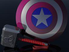 Marvel Avengers, 3d por Renato.