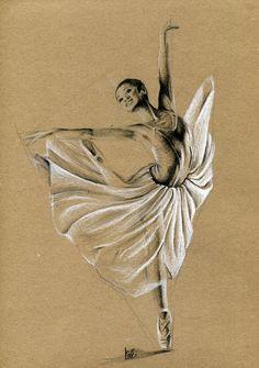 Rysunek baletnicy.