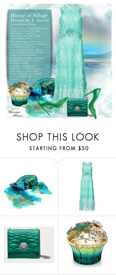"""Turquoise & Green"" by bb60477 ❤ liked on Polyvore featuring Christian Siriano, Bally, House of Sillage and Casadei"