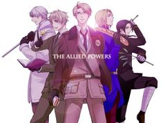 Hetalia: The Allied Powers (Russia, England, America, France, China)