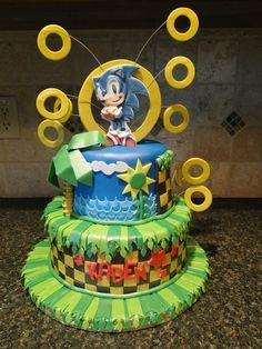 Sonic cake  by Carey Iennaccaro