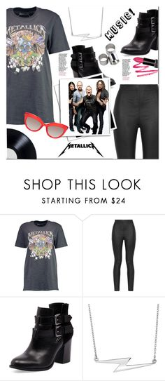 """""""Music: Metallica!"""" by christinacastro830 ❤ liked on Polyvore featuring Boohoo, Armani Jeans, Bonbons and MTWTFSS Weekday"""