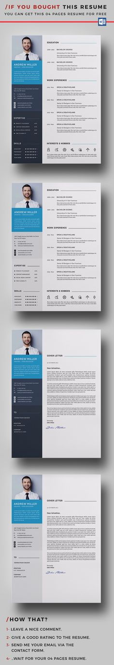 Resume Template, Cv template and Resume cv - attractive resume templates