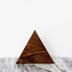 triangle walnut serving board - for passed appetizers (if any)