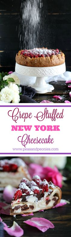 crepe stuffed New York cheesecake