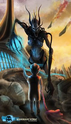 Asari Banshee turning on her former kid. (<— WHY WOULD YOU POST SOMETHING LIKE THAT? *BAWLS*)