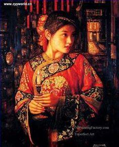 who is an artist: Chen Yifei (陈 逸飞; Ningbo 1946-2005) or Di Li Feng (邸立丰; b1958, Jinzhou, Liaoning Province, China) https://cuadernoderetazos.wordpress.com/?s=Di+Li+Feng