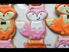 How to decorate a pink fox cookie - Flour Box Bakery